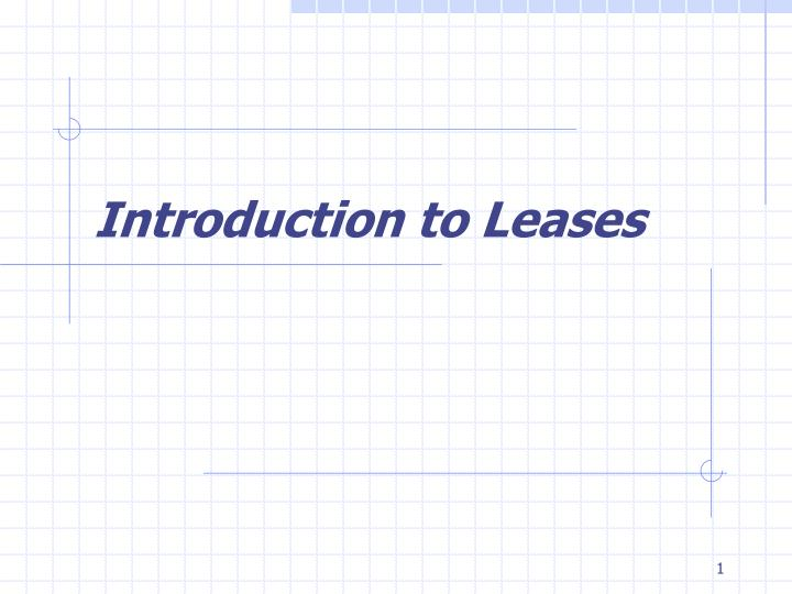 introduction to leases n.
