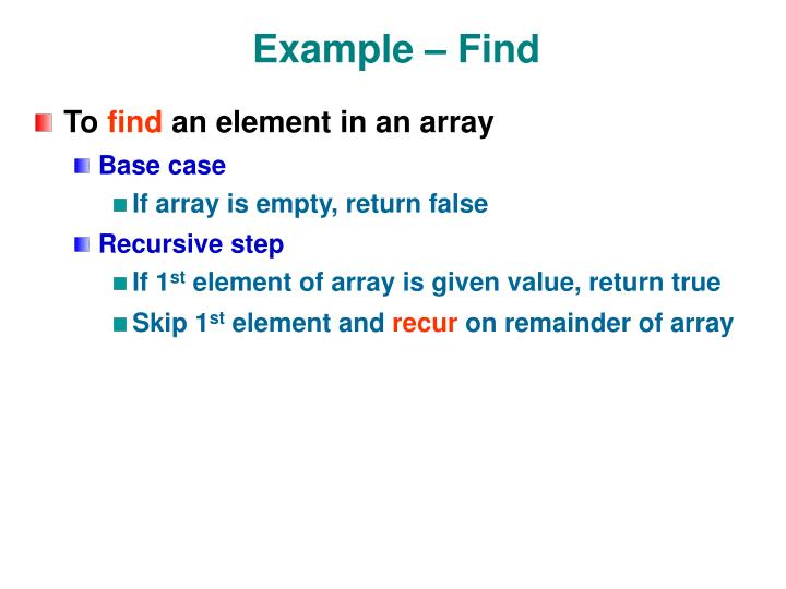 Example – Find