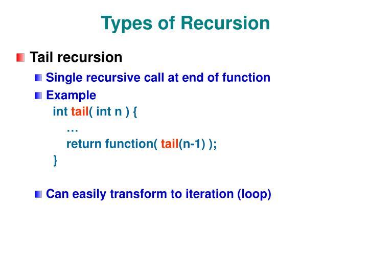 Types of Recursion
