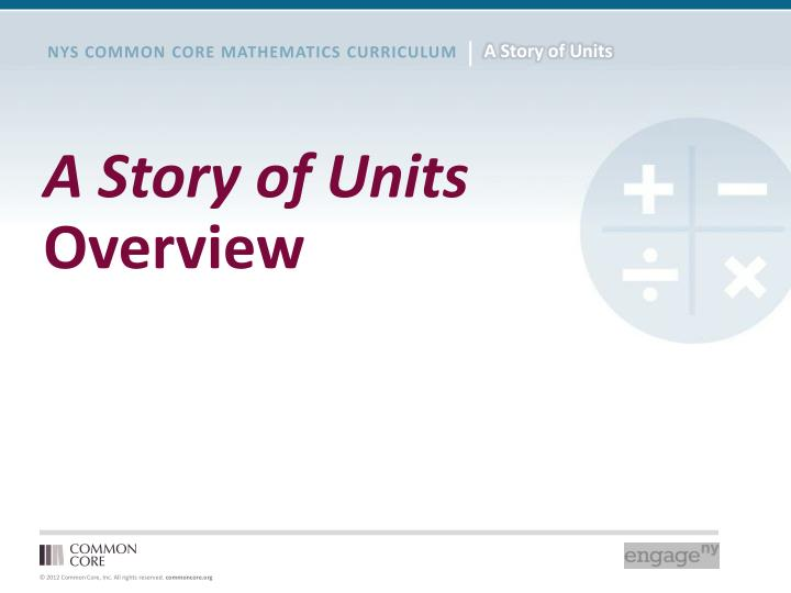 a story of units overview n.