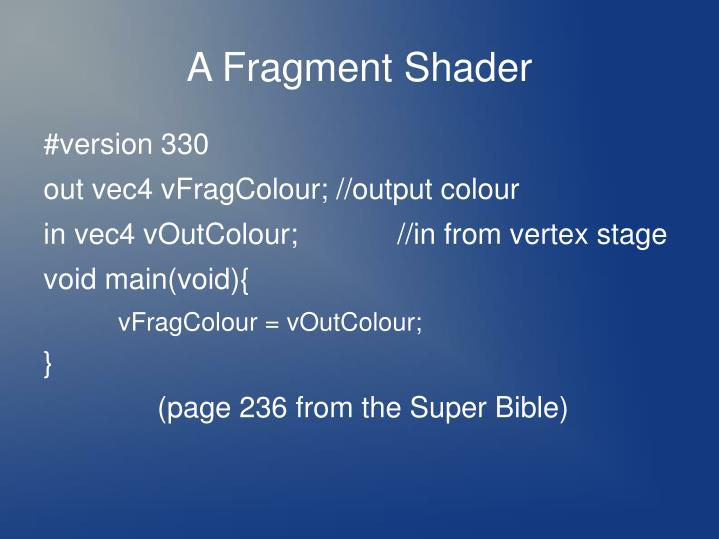 A Fragment Shader