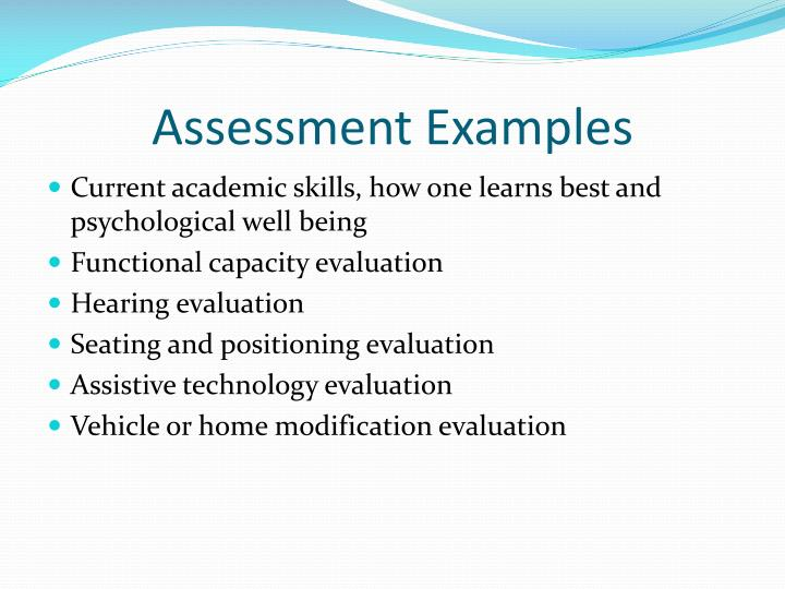 Assessment Examples