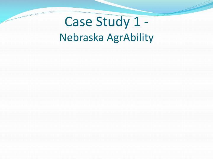Case Study 1 -