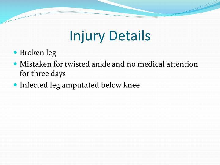 Injury Details
