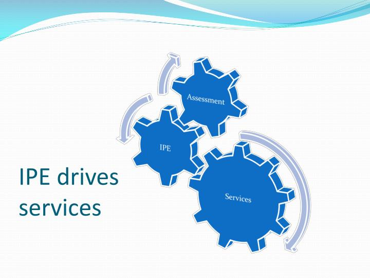 IPE drives services