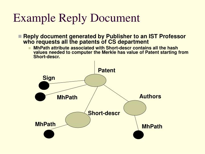 Example Reply Document
