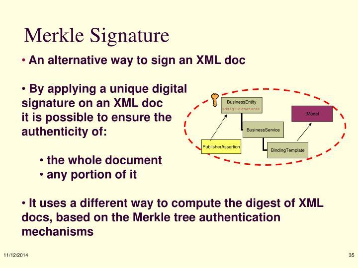 Merkle Signature