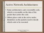 active network architectures