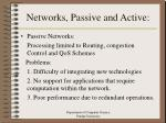 networks passive and active
