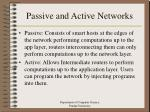 passive and active networks