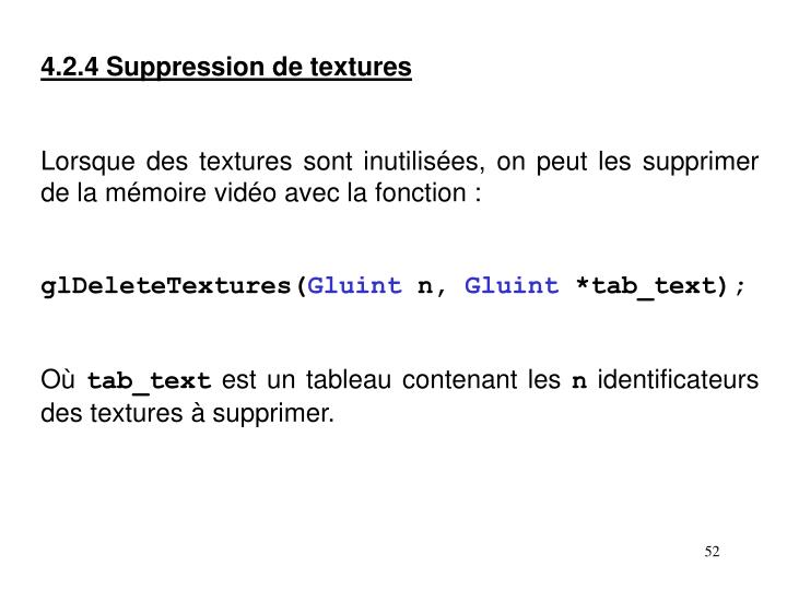 4.2.4 Suppression de textures
