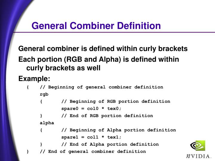 General Combiner Definition