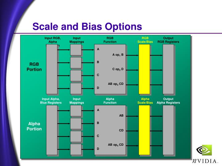 Scale and Bias Options