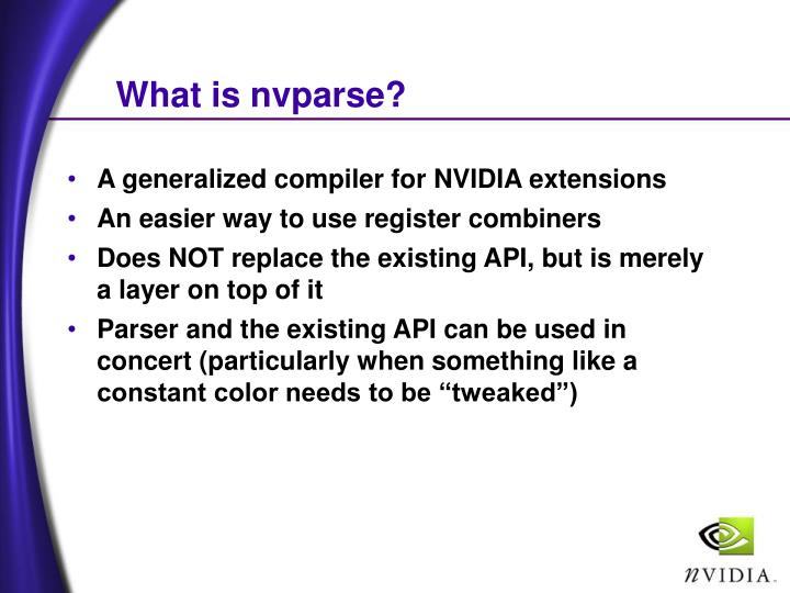 What is nvparse