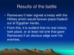 results of the battle