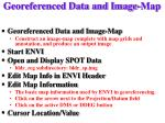 georeferenced data and image map