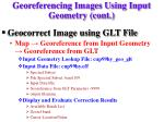 georeferencing images using input geometry cont2