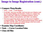 image to image registration cont1