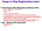 image to map registration cont