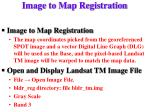 image to map registration