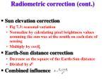 radiometric correction cont