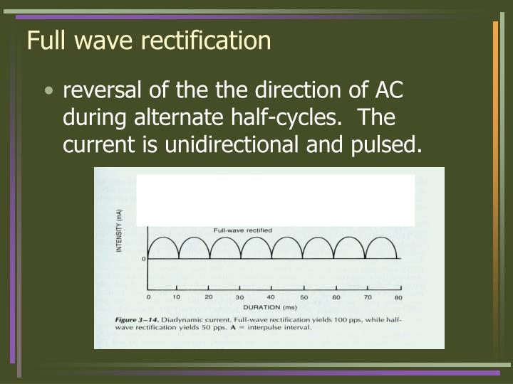 Full wave rectification