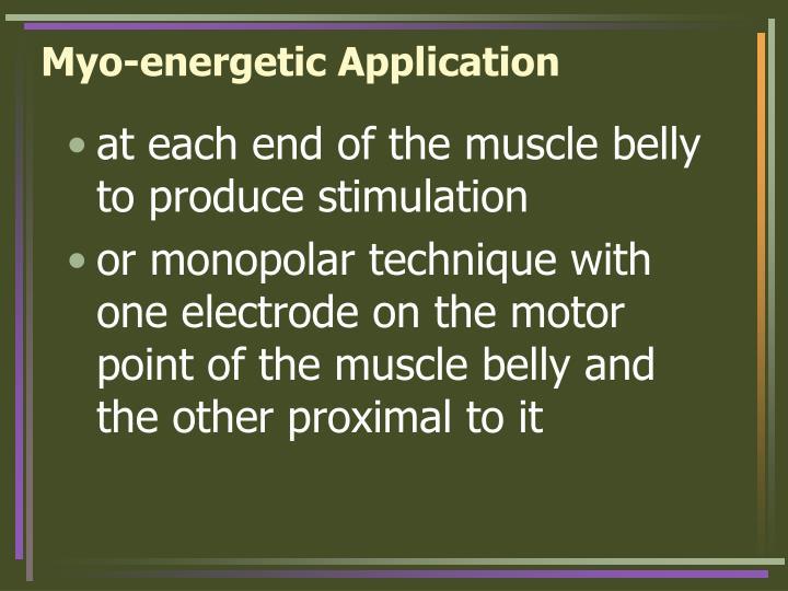 Myo-energetic Application
