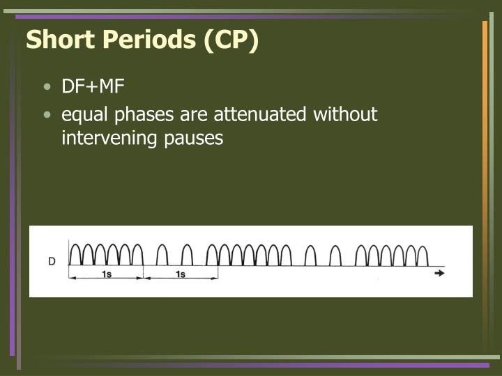 Short Periods (CP)