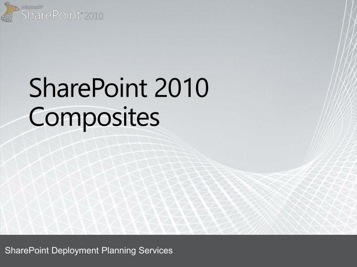 sharepoint 2010 composites n.