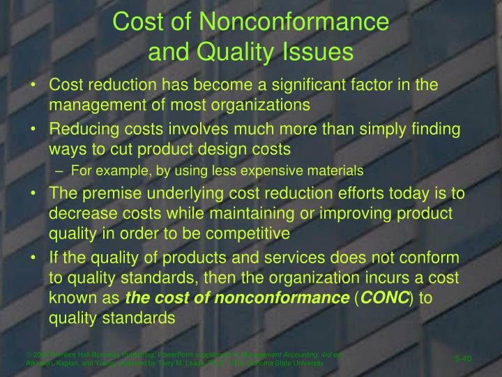 Cost of Nonconformance