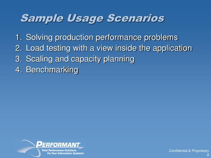 Sample Usage Scenarios