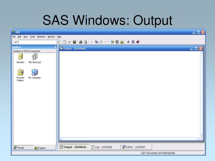 SAS Windows: Output