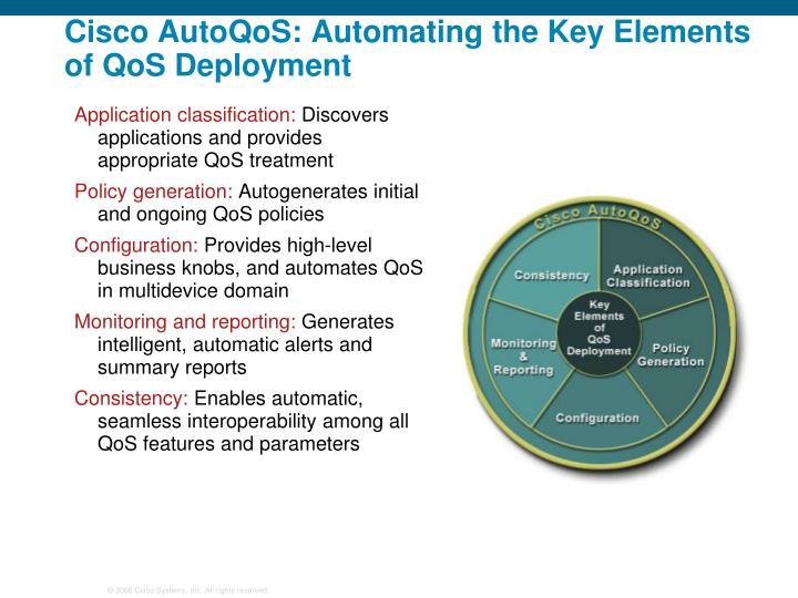 Cisco AutoQoS: Automating the Key Elements of QoS Deployment