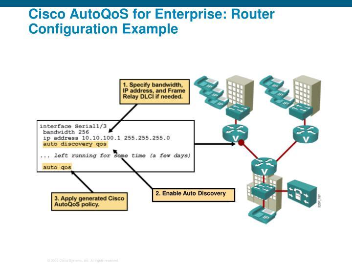 Cisco AutoQoS for Enterprise: Router Configuration Example