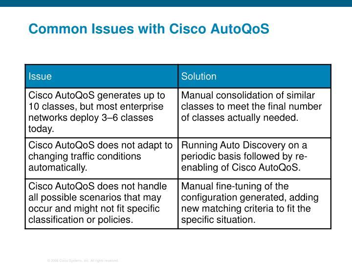 Common Issues with Cisco AutoQoS