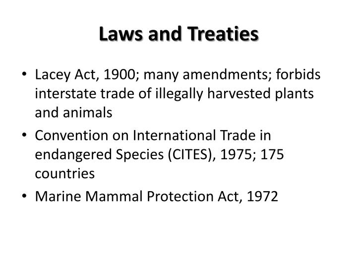 Laws and Treaties