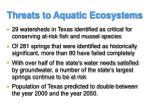 threats to aquatic ecosystems1
