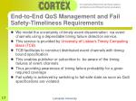 end to end qos management and fail safety timeliness requirements