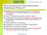 why component framework based middleware platform