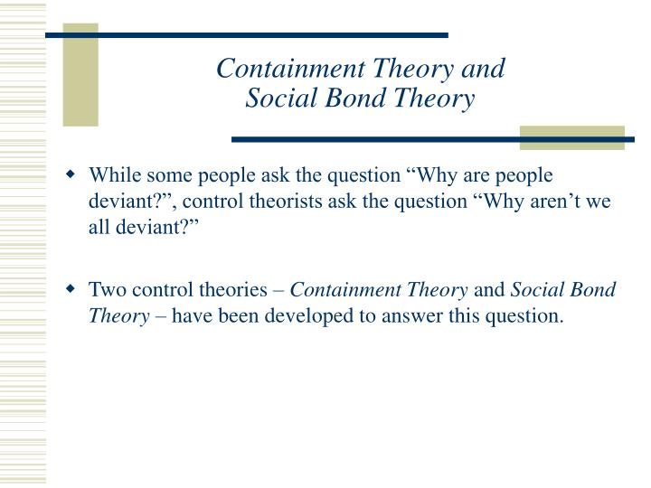 what is social bond theory