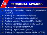 personal awards