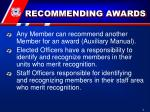 recommending awards