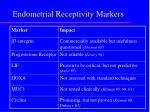 endometrial receptivity m arkers
