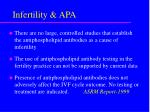 infertility apa
