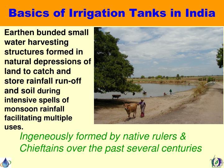Basics of irrigation tanks in india
