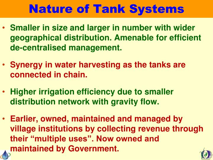 Nature of Tank Systems
