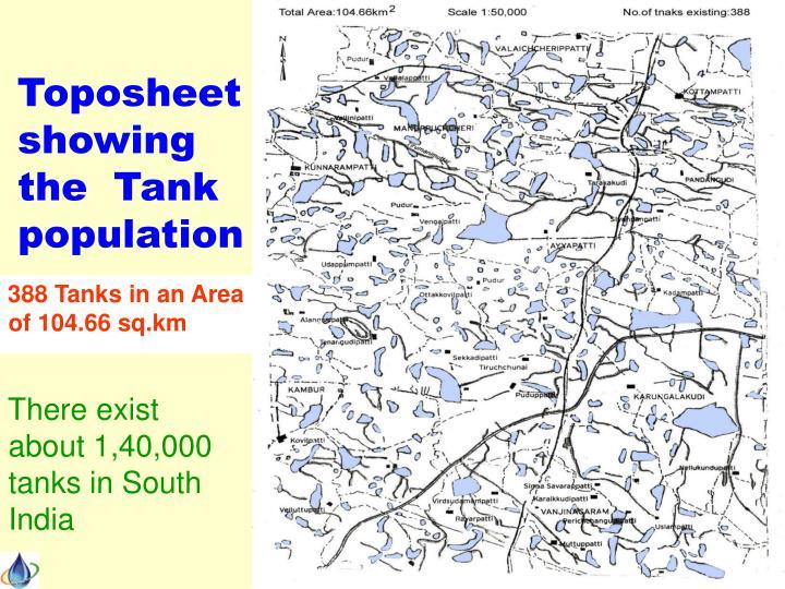 Toposheet showing the  Tank population