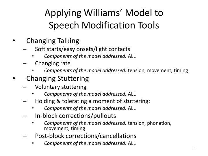 Applying Williams' Model to