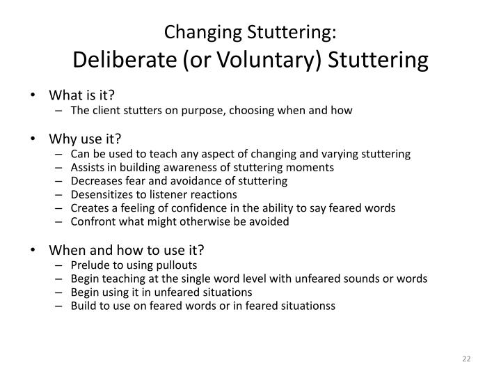 Changing Stuttering: