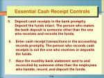 essential cash receipt controls1